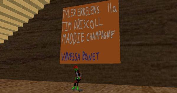 Sign outside Vanessa Bonet virtual exhibition